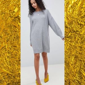 ASOS Knitted Dress with Balloon Sleeve